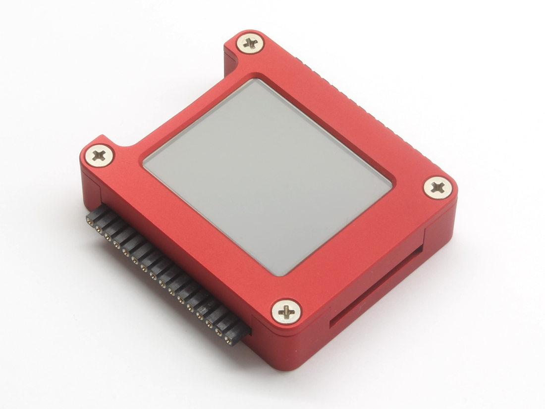 MicroPython housing for LCD160CR, red