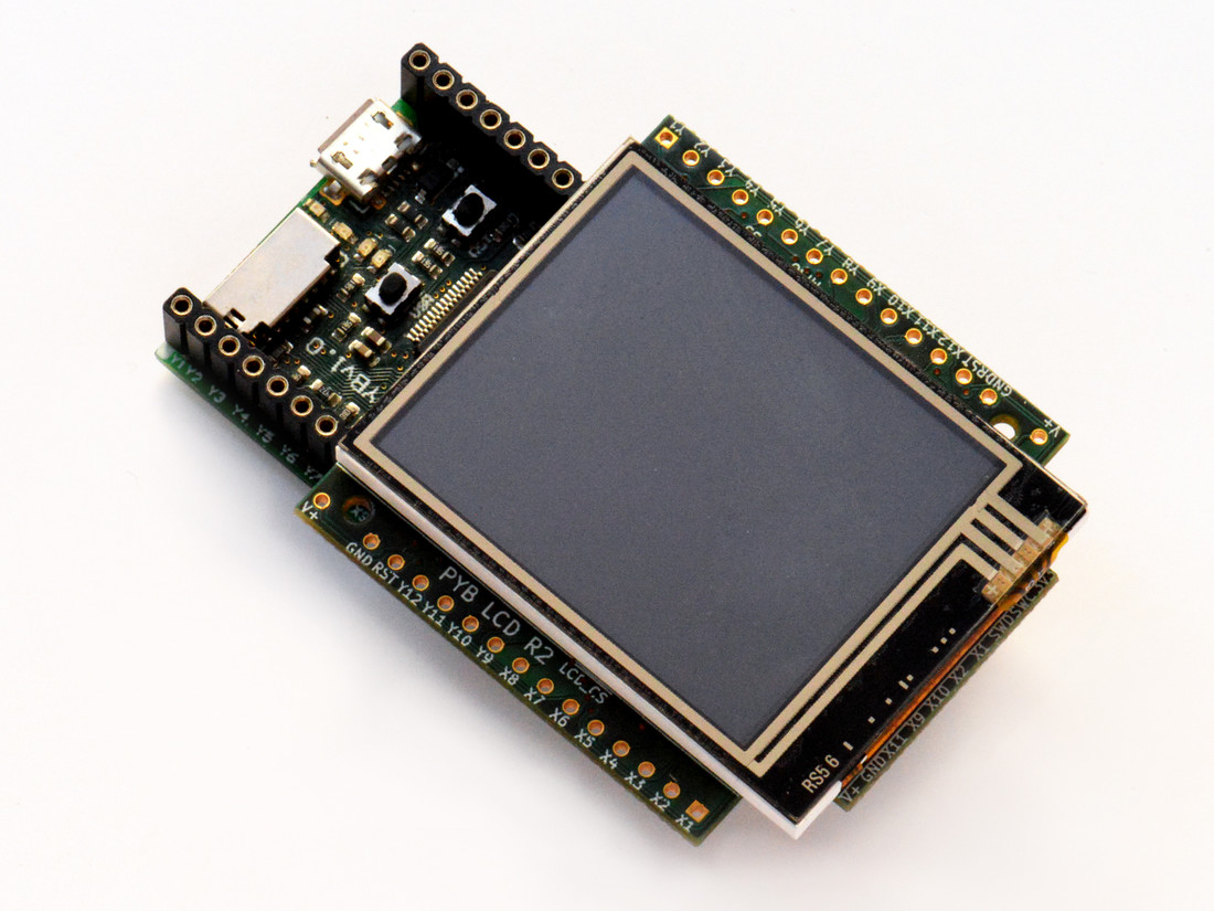 Colour LCD skin with resistive touch and headers