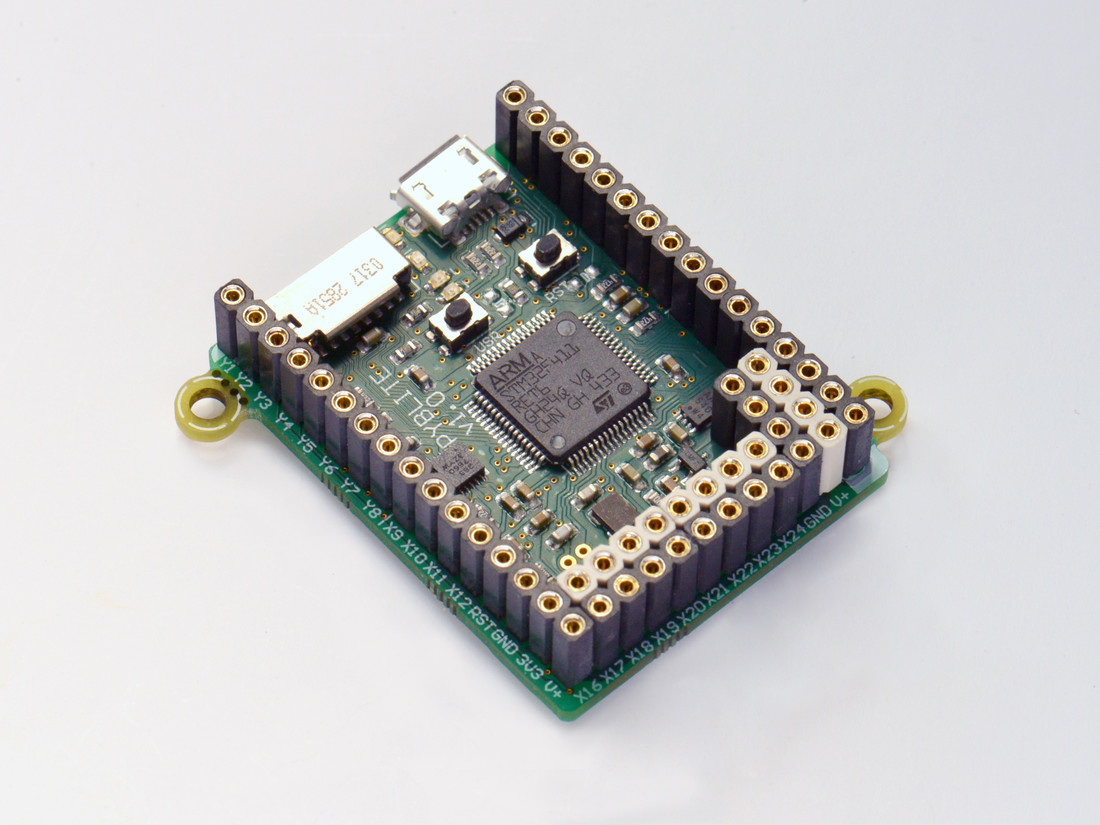 MicroPython pyboard lite v1.0 with accelerometer and headers