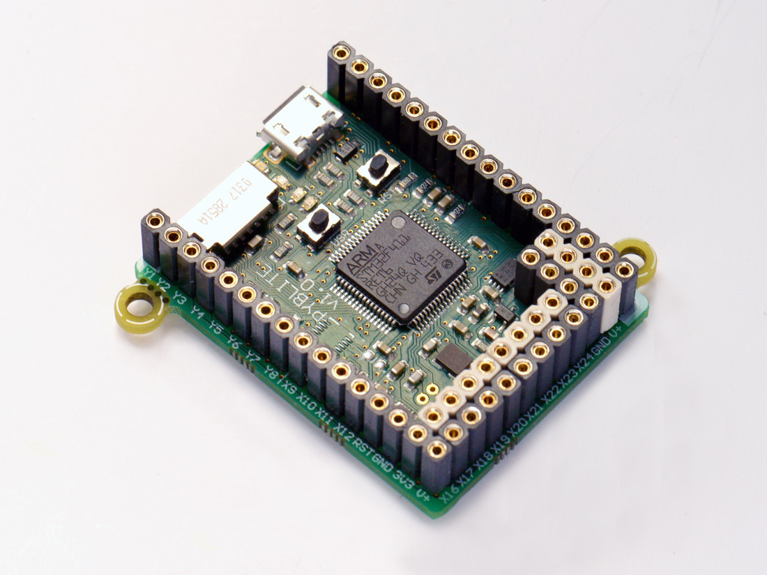 MicroPython pyboard lite v1.0 with headers