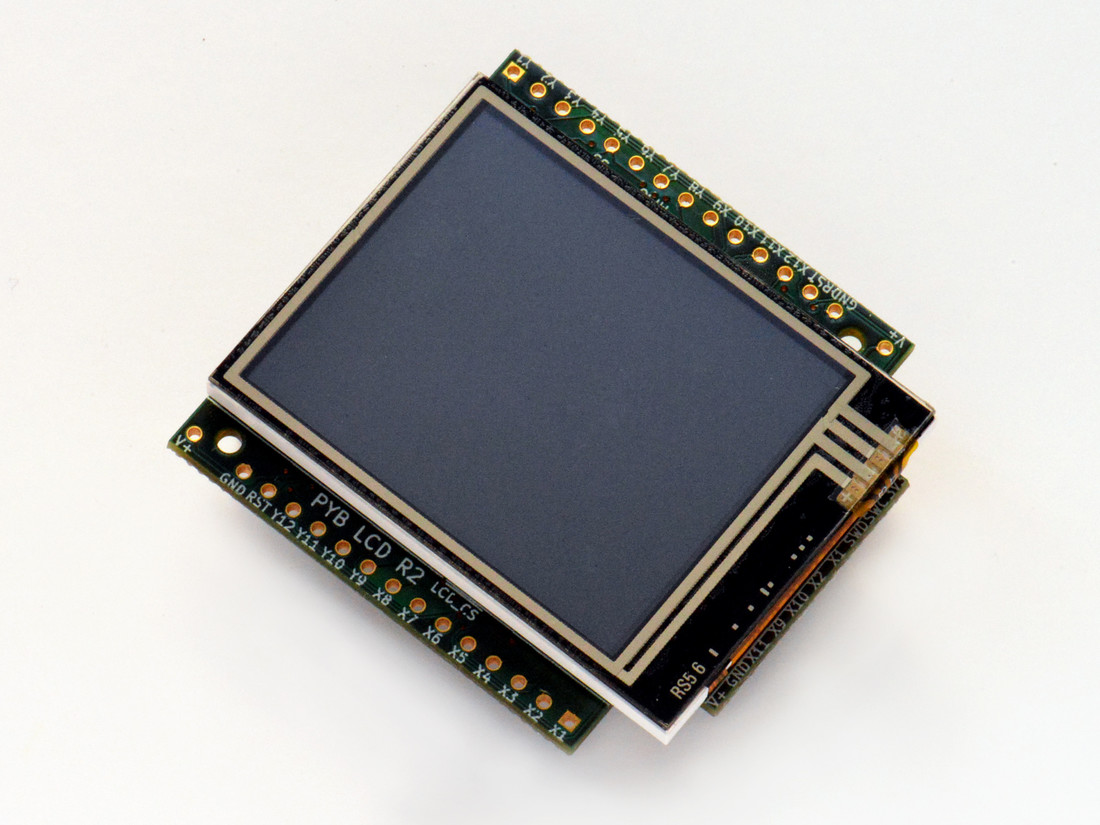 Colour LCD skin with resistive touch
