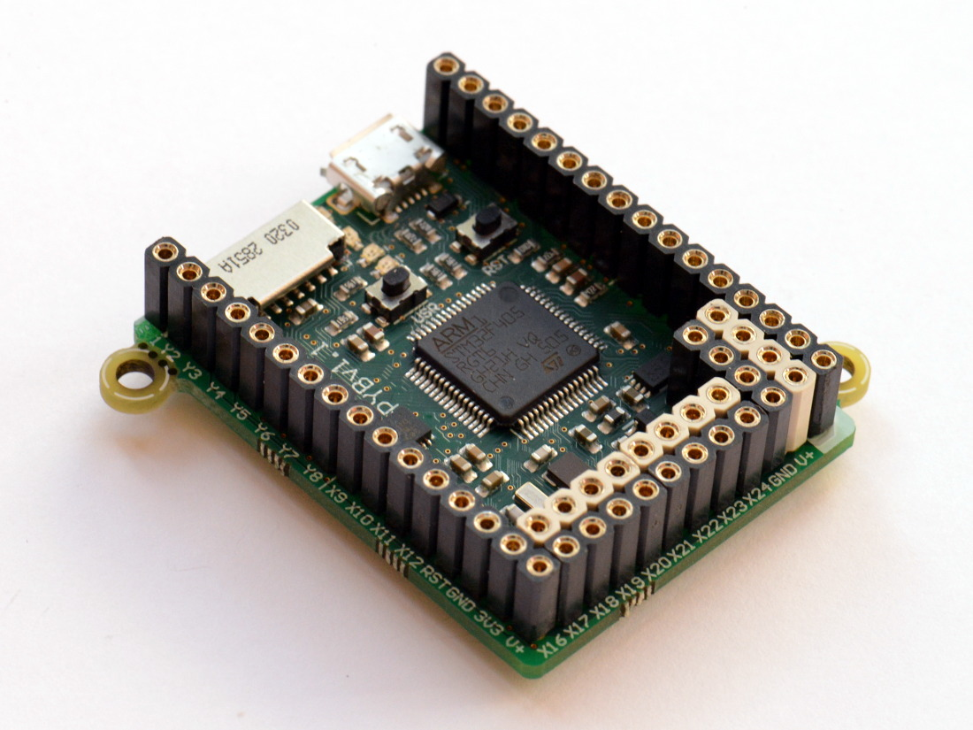 MicroPython pyboard v1.1 with headers